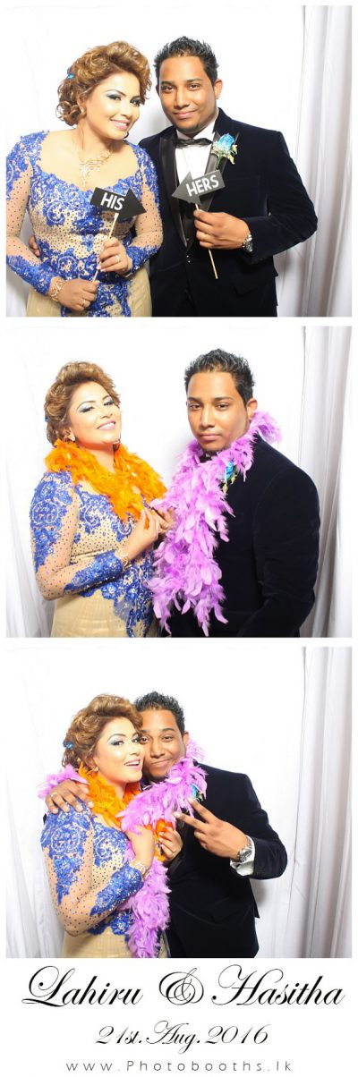 Hasitha Wedding photobooth Pictures